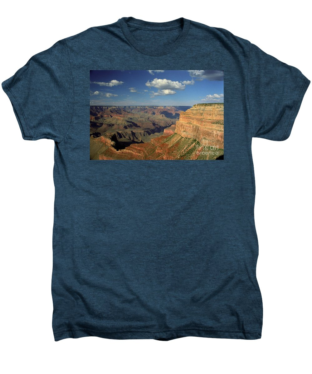 Grand Canyon Men's Premium T-Shirt featuring the photograph This Is My Father's World by Kathy McClure