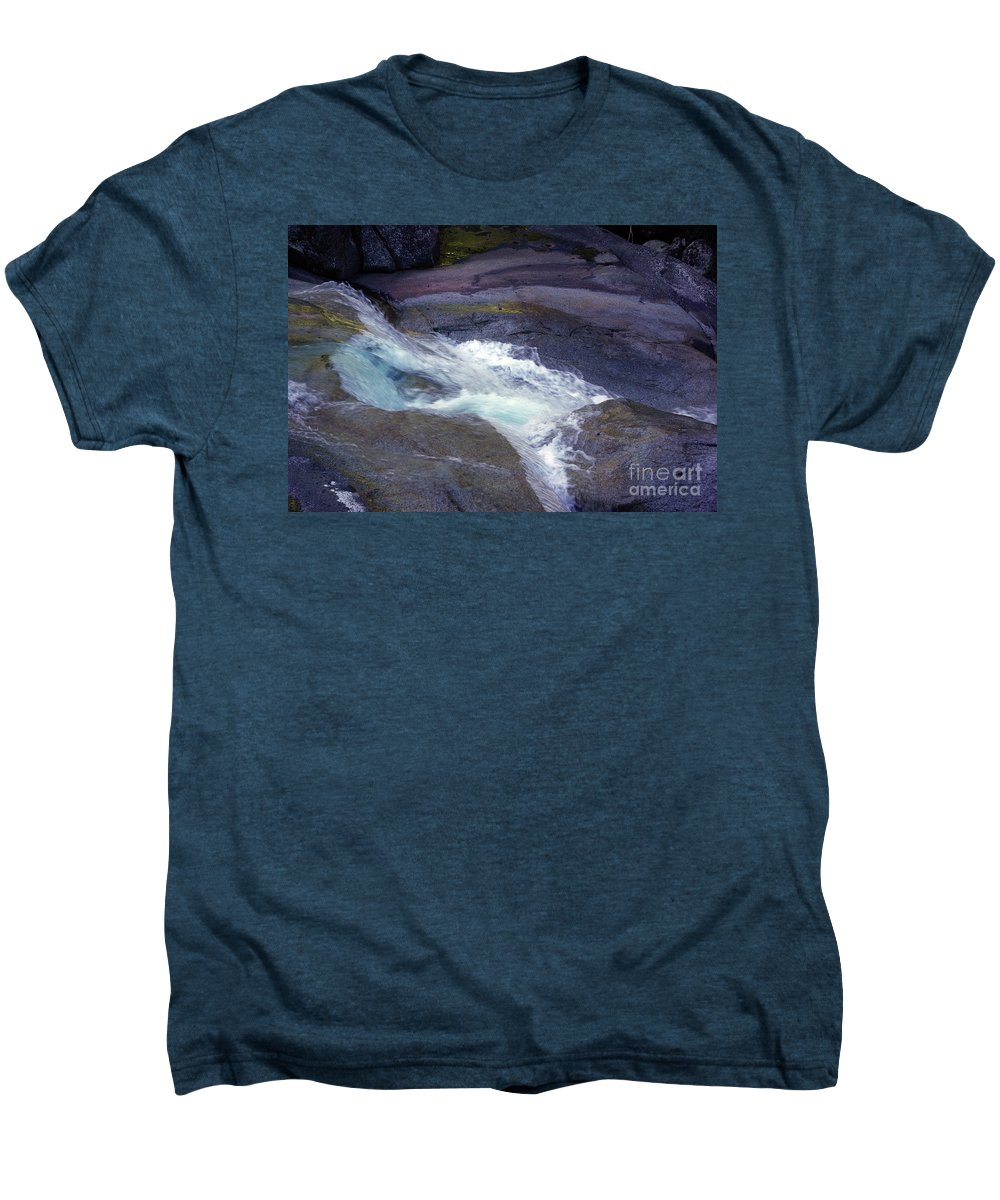 Flowing Men's Premium T-Shirt featuring the photograph Tropical Water Bird Josephine Falls by Kerryn Madsen- Pietsch