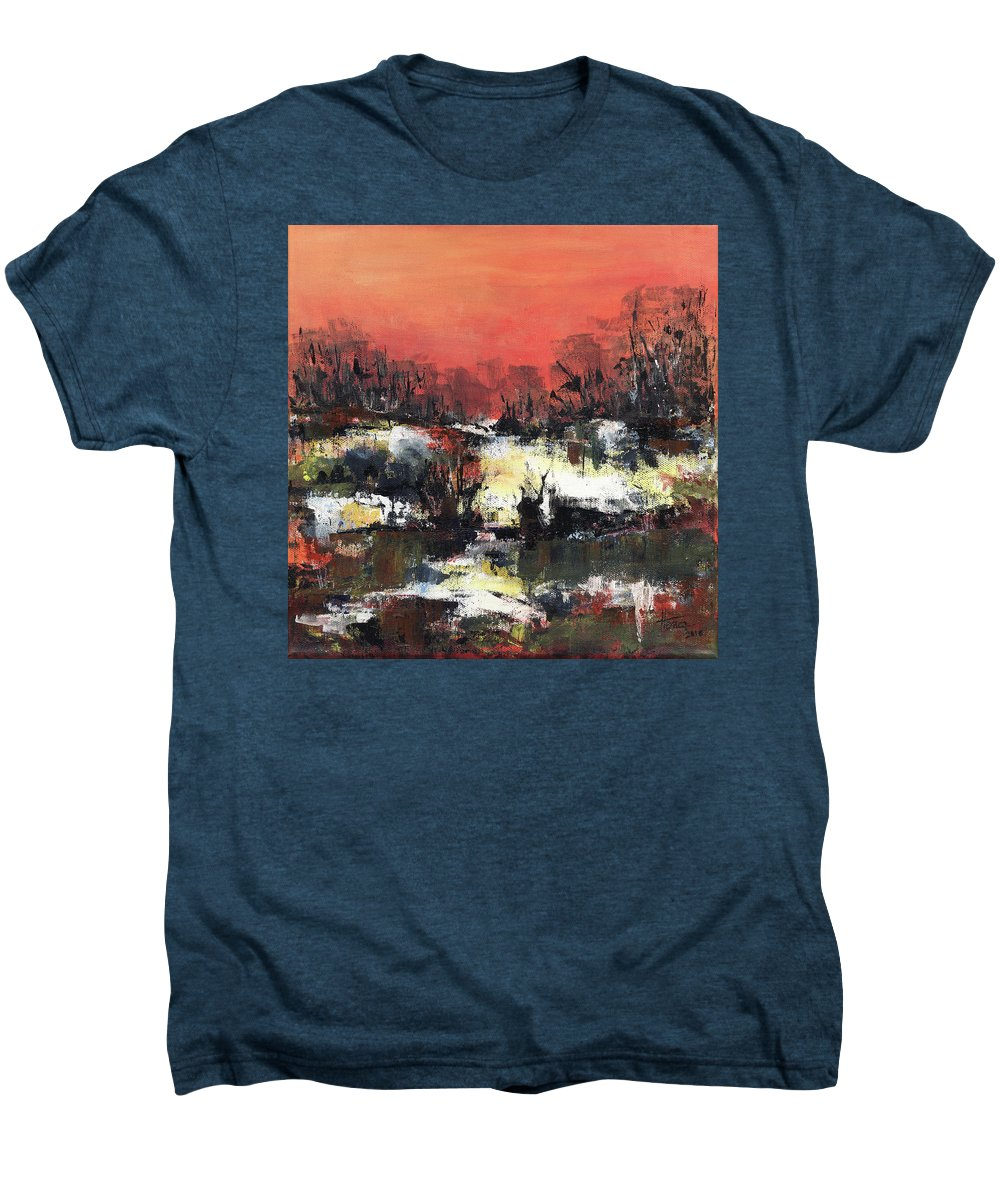 Abstract Men's Premium T-Shirt featuring the painting Twilight Madness by Aniko Hencz