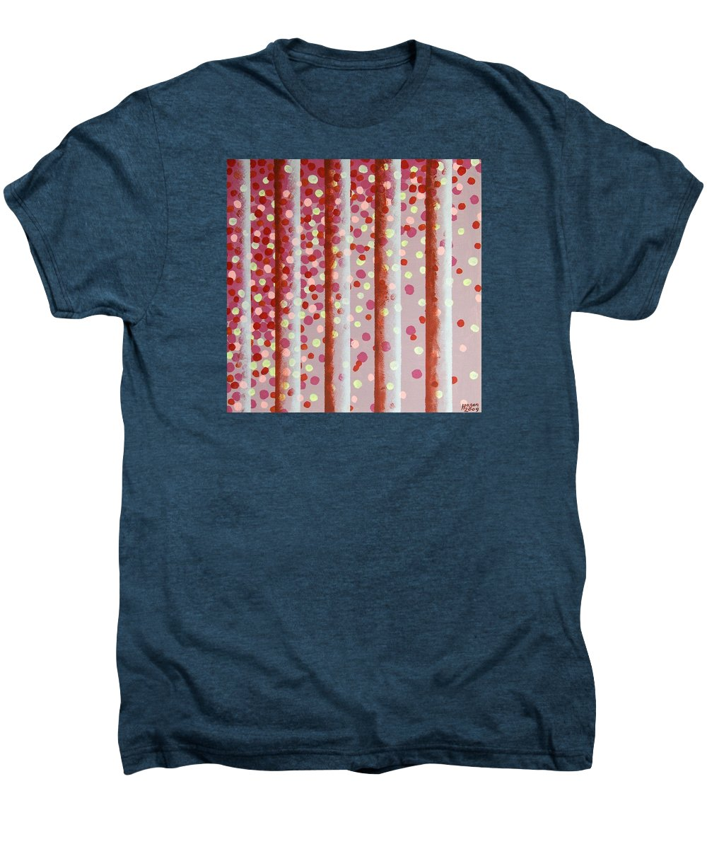 Vertical Bars Men's Premium T-Shirt featuring the painting Vertical Bars by Alan Hogan