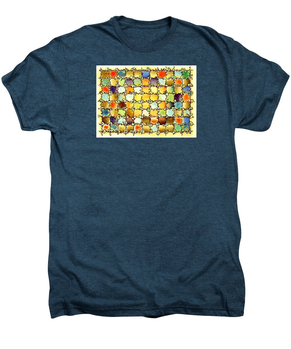 Abstract Men's Premium T-Shirt featuring the painting Warm Light by Dave Martsolf