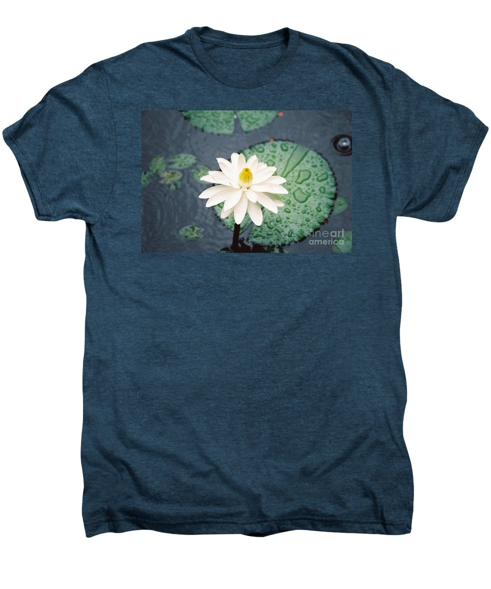Flowers Men's Premium T-Shirt featuring the photograph Water Lily by Kathy McClure