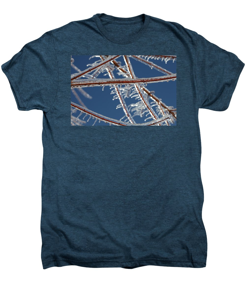 Winter Men's Premium T-Shirt featuring the photograph Winter Blue by Nadine Rippelmeyer