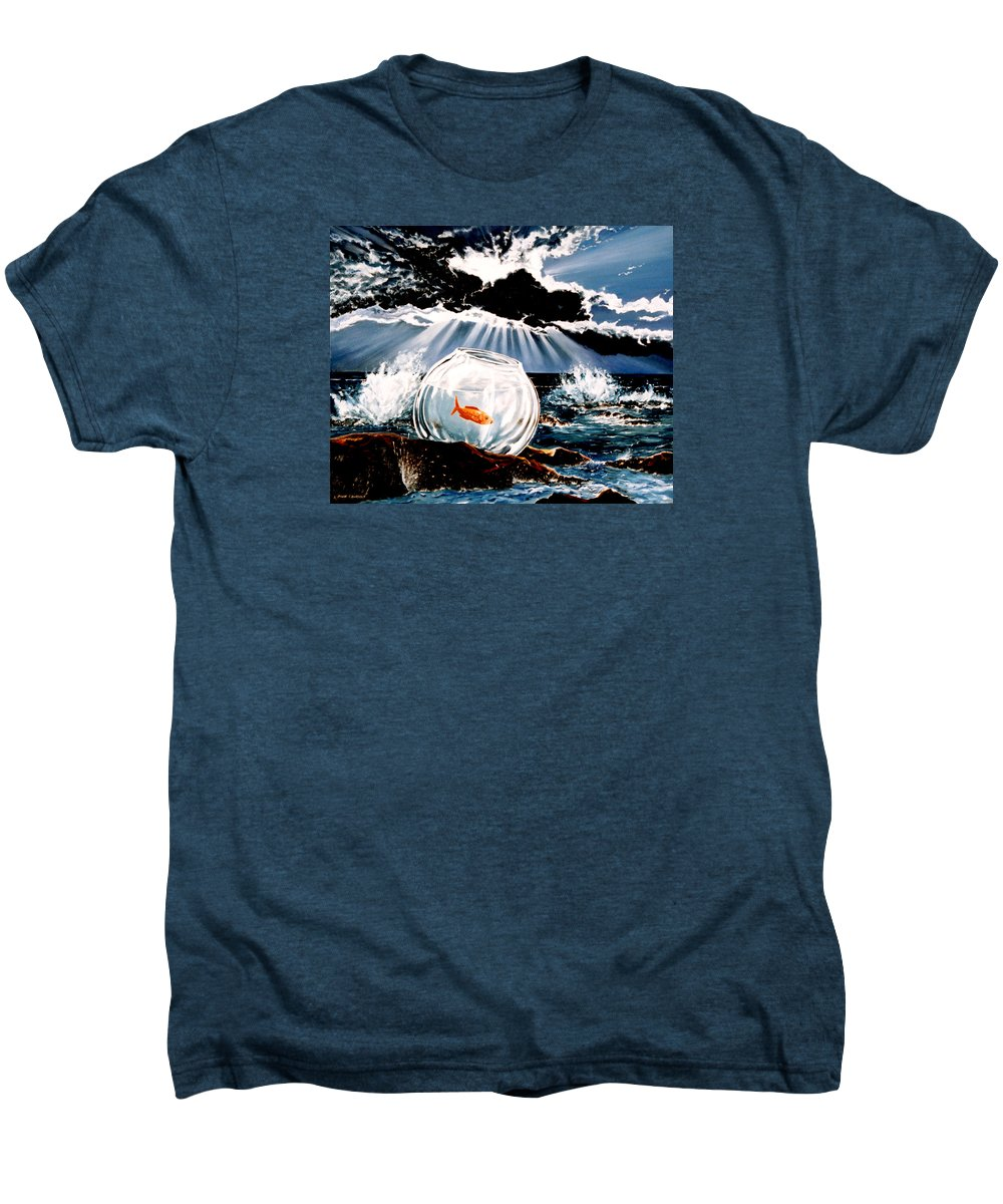 Surreal Men's Premium T-Shirt featuring the painting Wish You Were Here by Mark Cawood