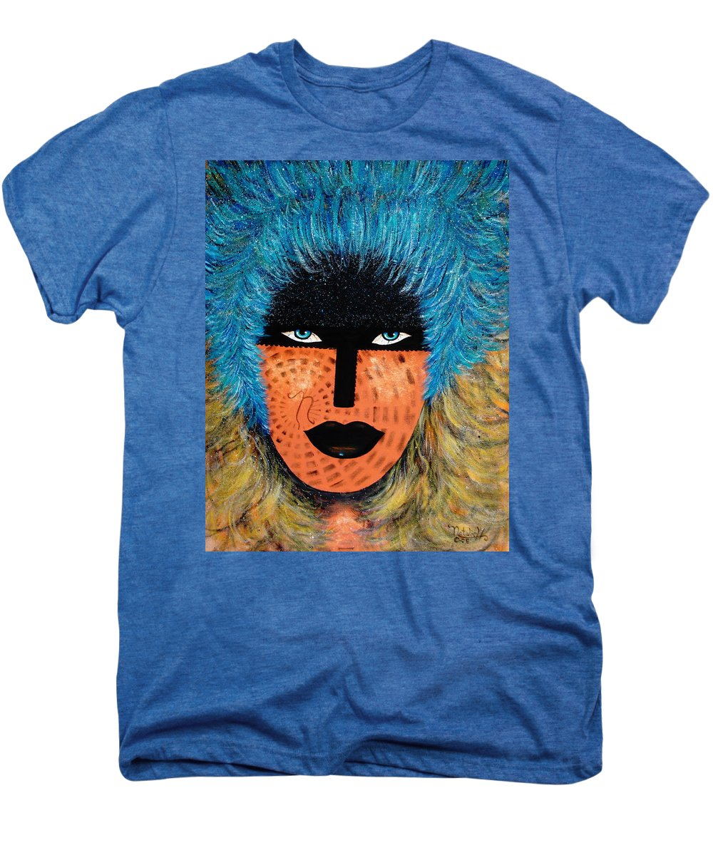 Woman Men's Premium T-Shirt featuring the painting Viva Niva by Natalie Holland