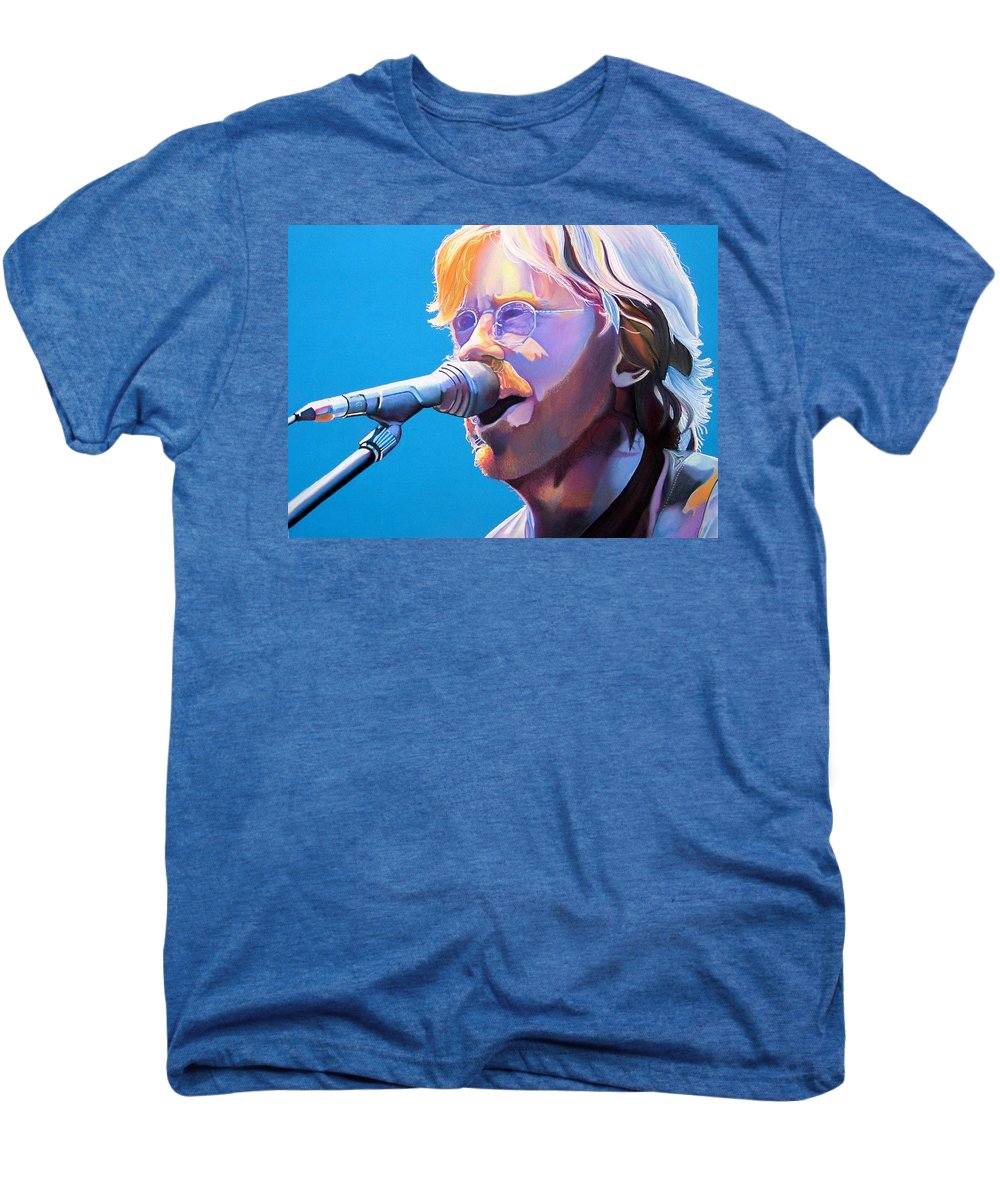 Phish Men's Premium T-Shirt featuring the drawing Trey Anastasio by Joshua Morton