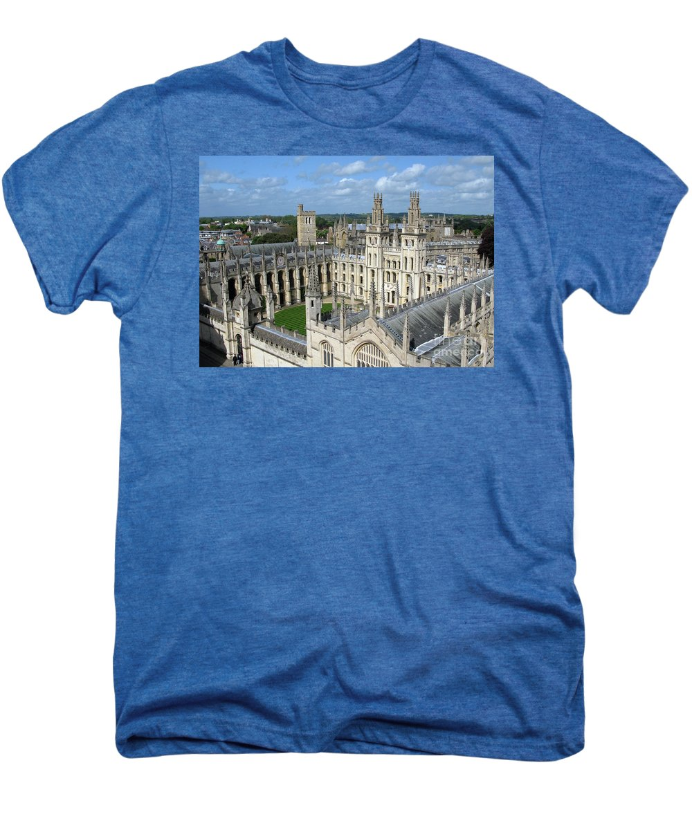 Oxford Men's Premium T-Shirt featuring the photograph All Souls College by Ann Horn