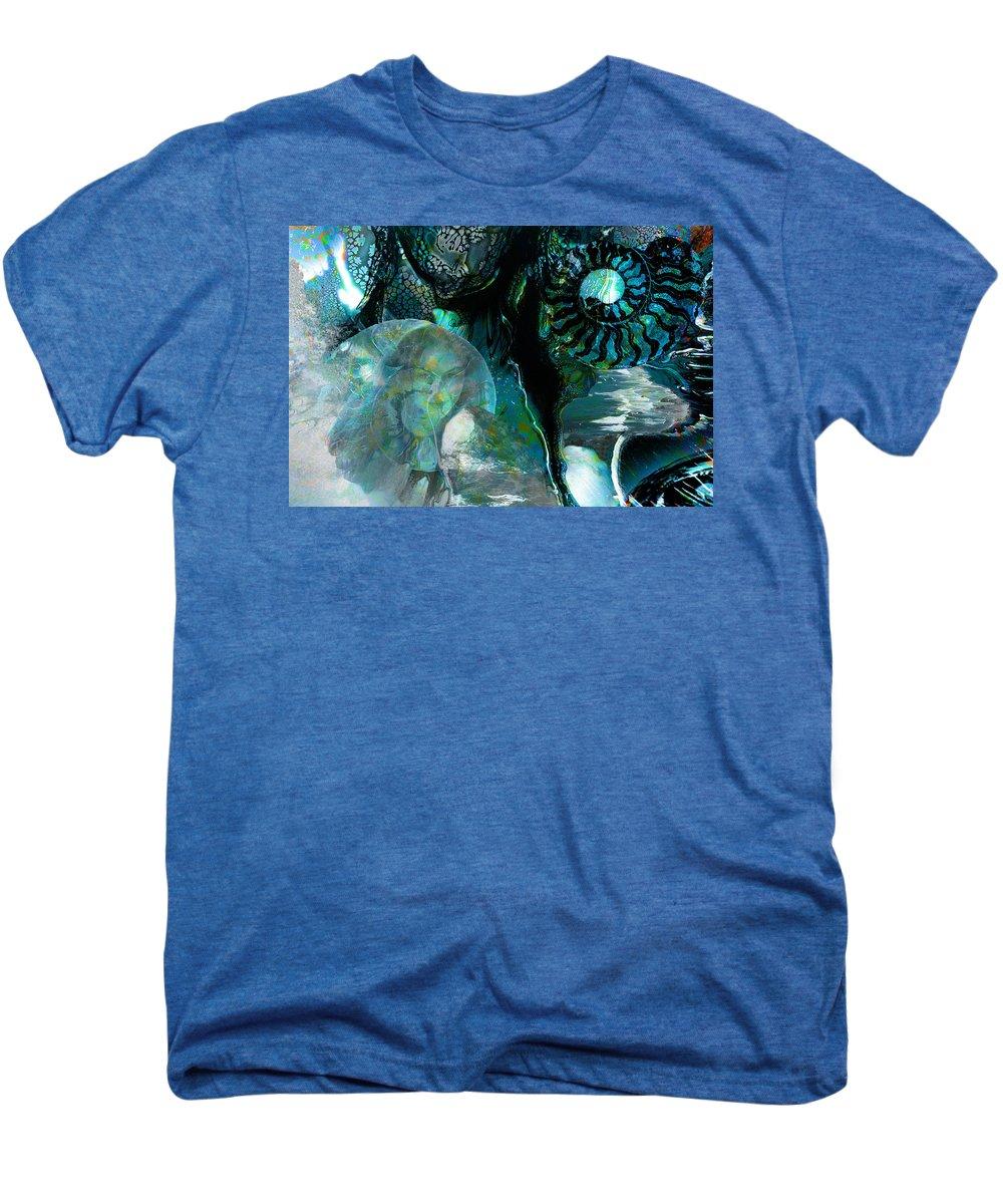 Ocean Men's Premium T-Shirt featuring the digital art Ammonite Seascape by Lisa Yount