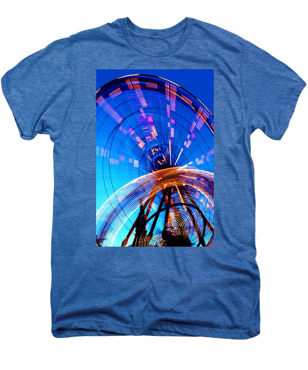 Amusement Park Men's Premium T-Shirt featuring the photograph Amusement Park Rides 1 by Steve Ohlsen