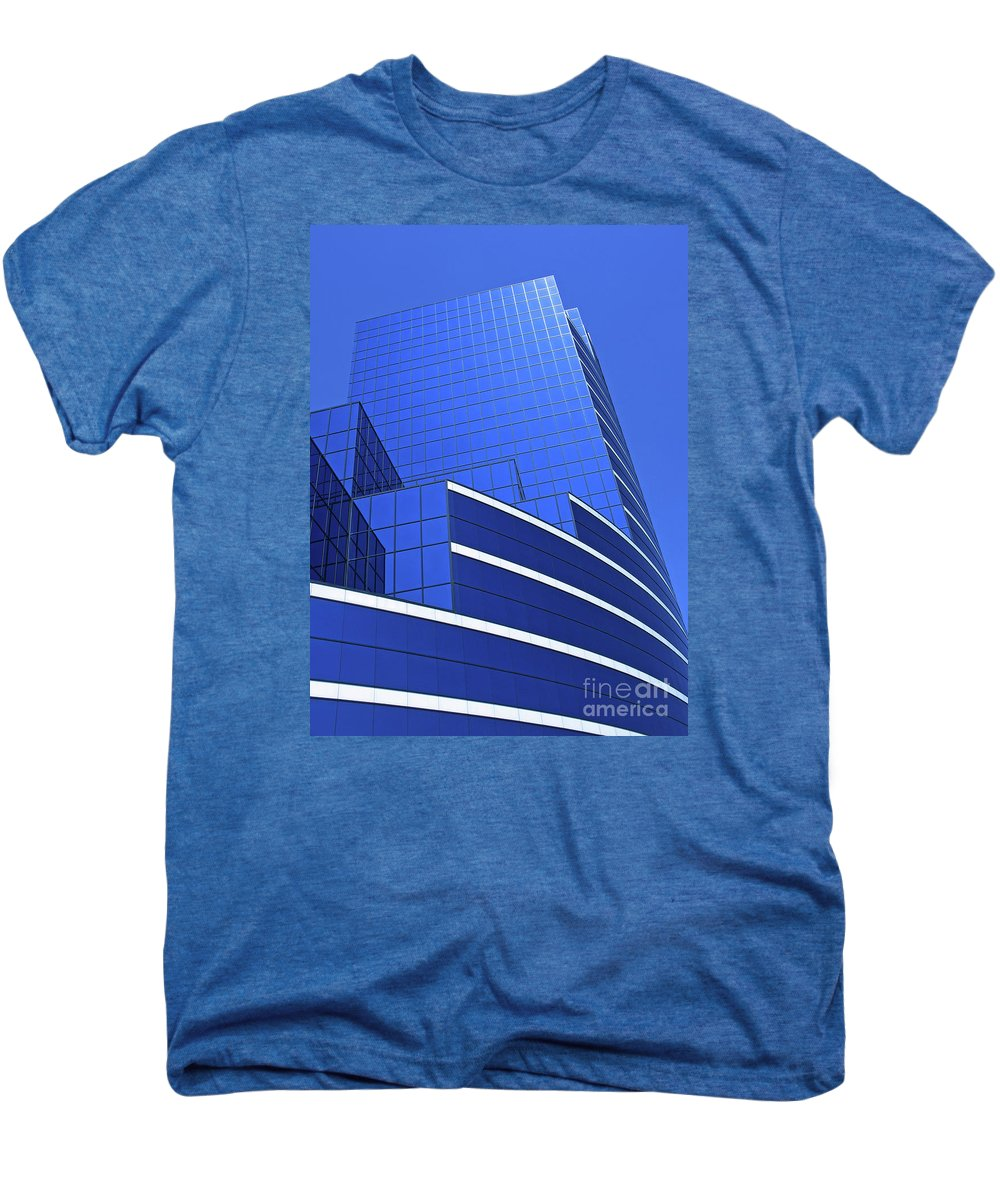 Architecture Men's Premium T-Shirt featuring the photograph Architectural Blues by Ann Horn