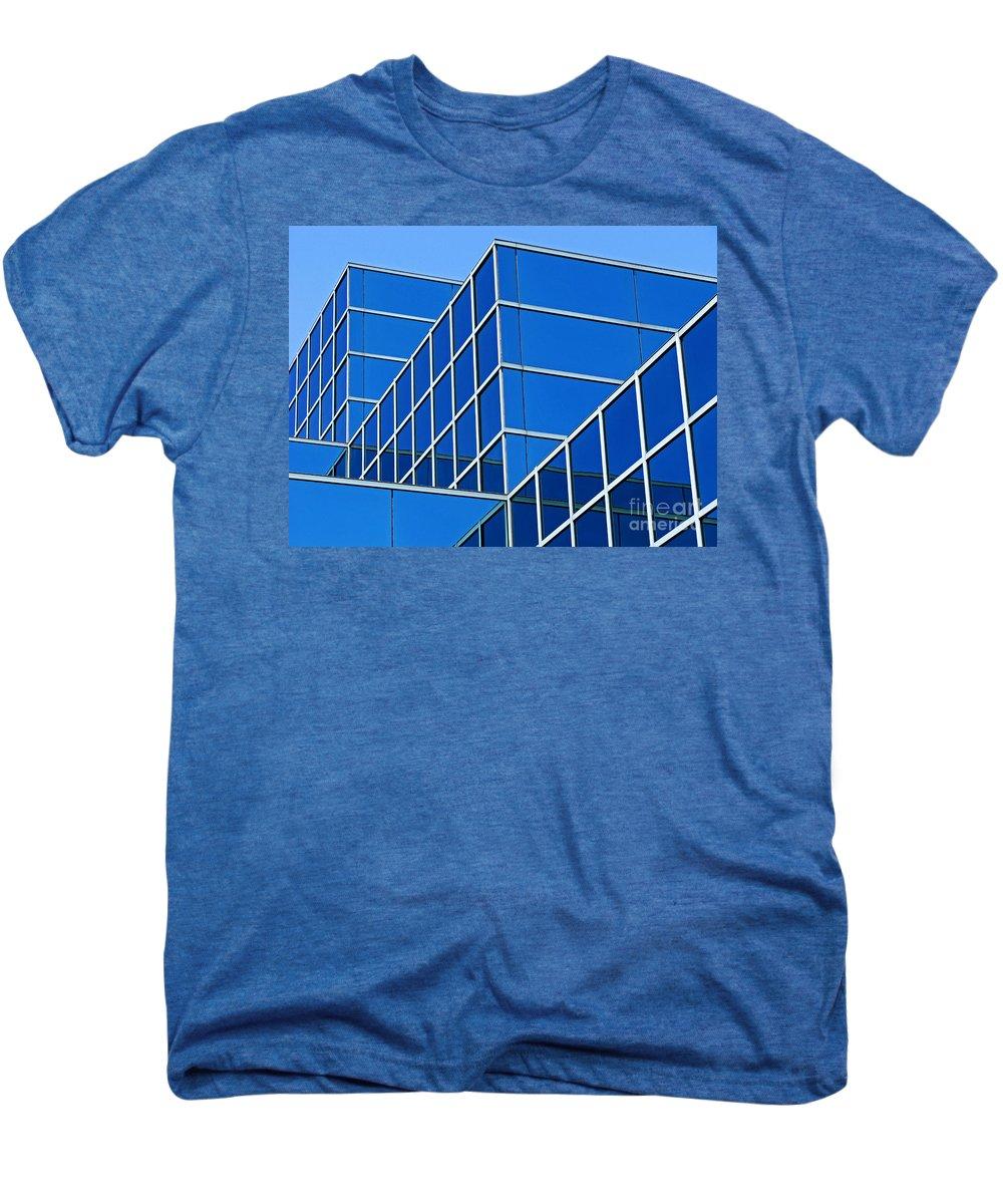 Building Men's Premium T-Shirt featuring the photograph Boldly Blue by Ann Horn