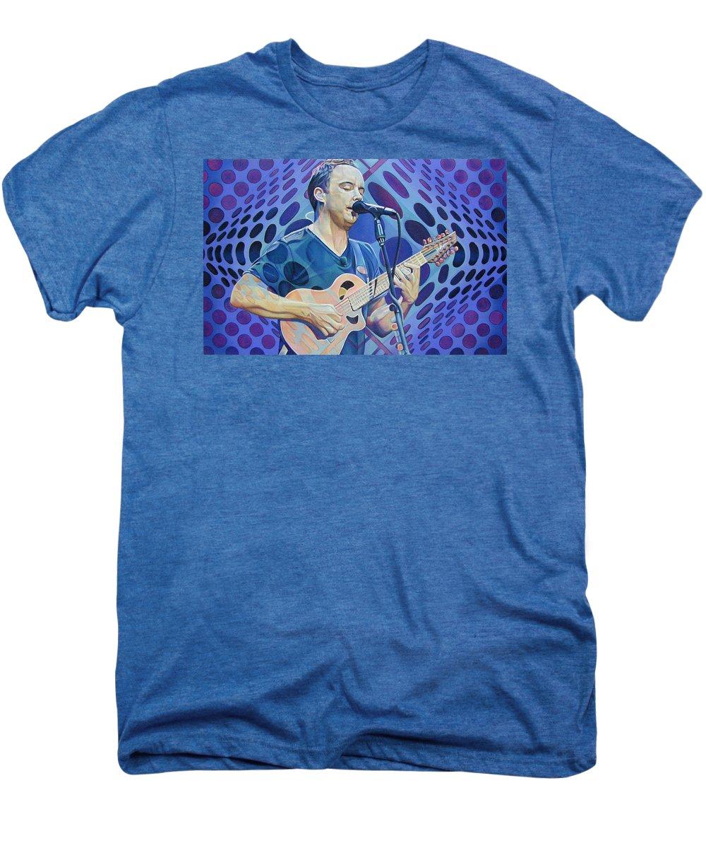Dave Matthews Men's Premium T-Shirt featuring the drawing Dave Matthews Pop-op Series by Joshua Morton