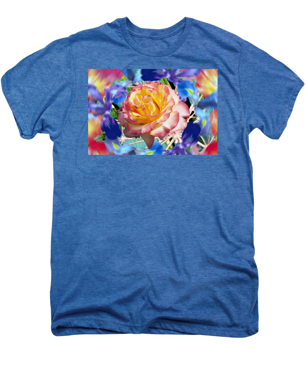 Flowers Men's Premium T-Shirt featuring the digital art Flower Dance 2 by Lisa Yount