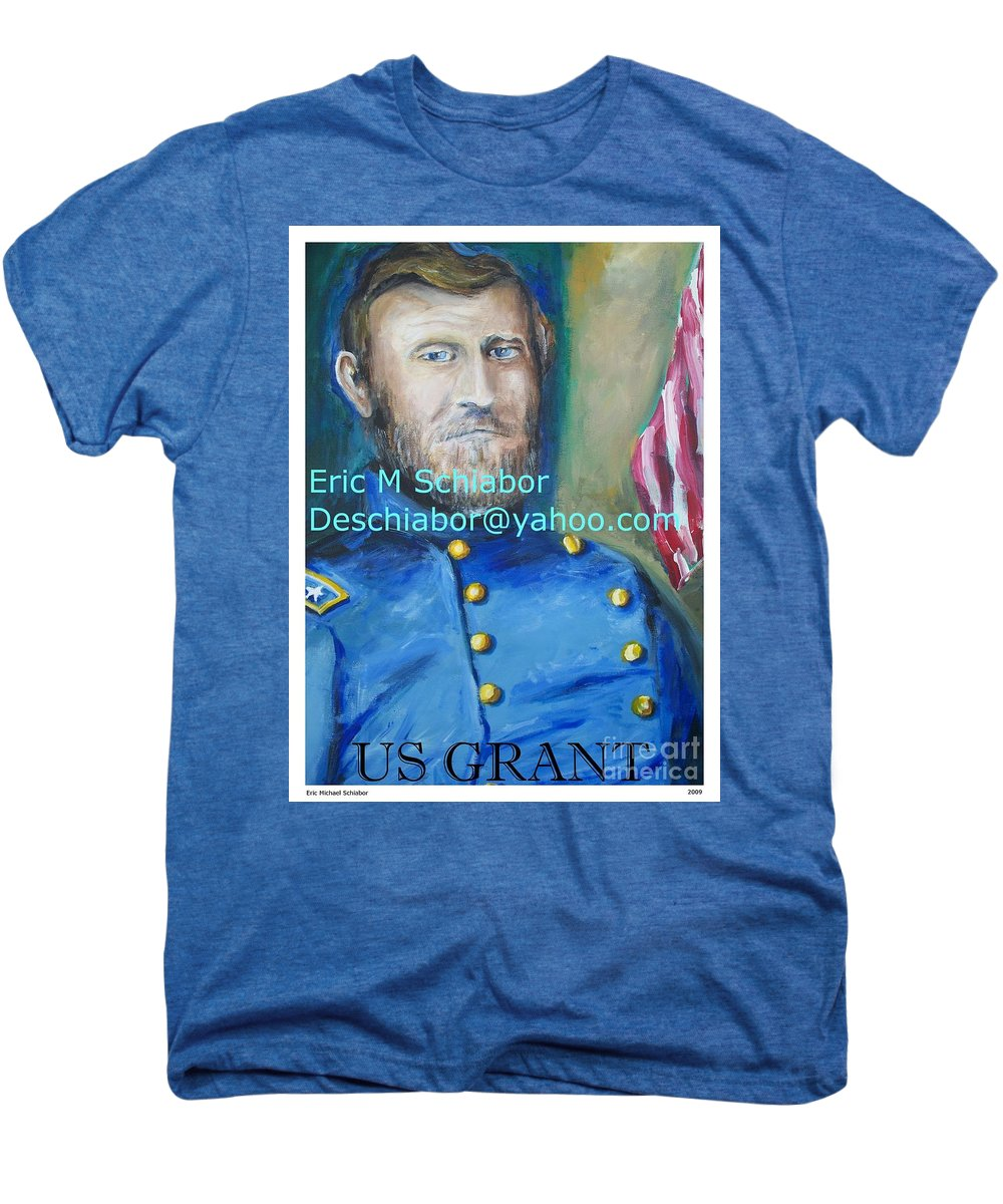 Grant Artwork Men's Premium T-Shirt featuring the painting General Us Grant by Eric Schiabor
