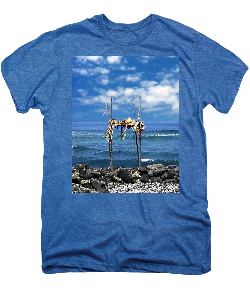 Hawaii Men's Premium T-Shirt featuring the photograph Ku Emanu Heiau Kona by Kurt Van Wagner