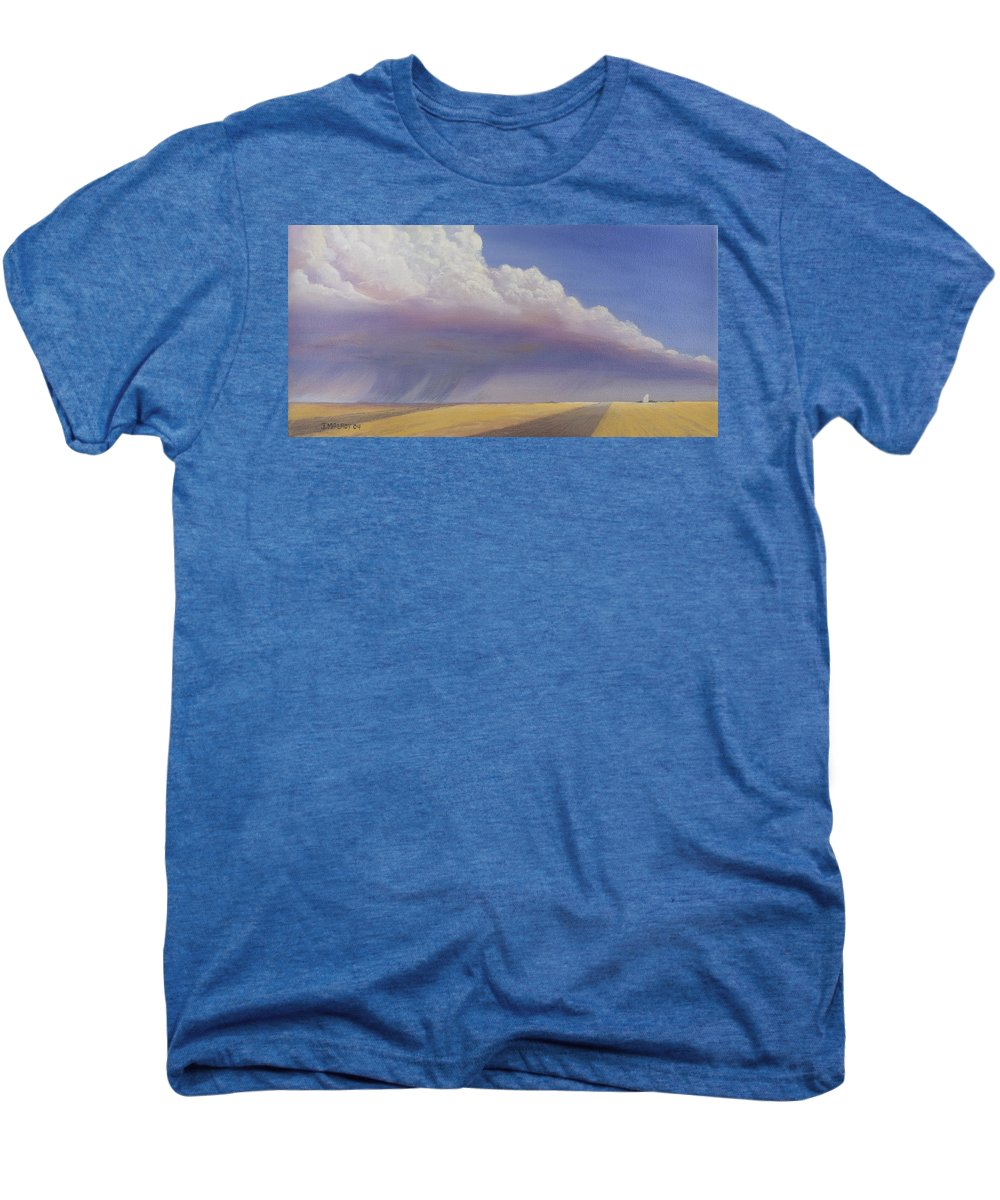 Landscape Men's Premium T-Shirt featuring the painting Nebraska Vista by Jerry McElroy