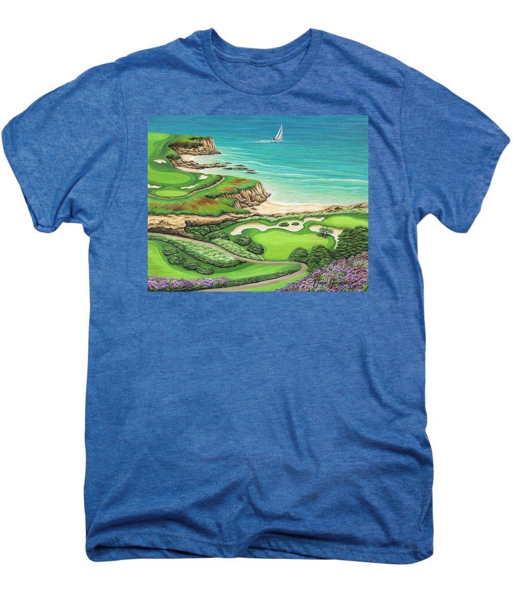 Ocean Men's Premium T-Shirt featuring the painting Newport Coast by Jane Girardot