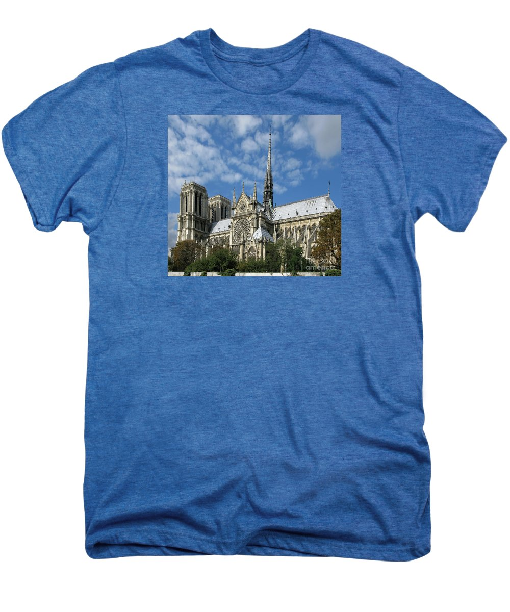 Notre Dame Men's Premium T-Shirt featuring the photograph Notre Dame Cathedral by Ann Horn