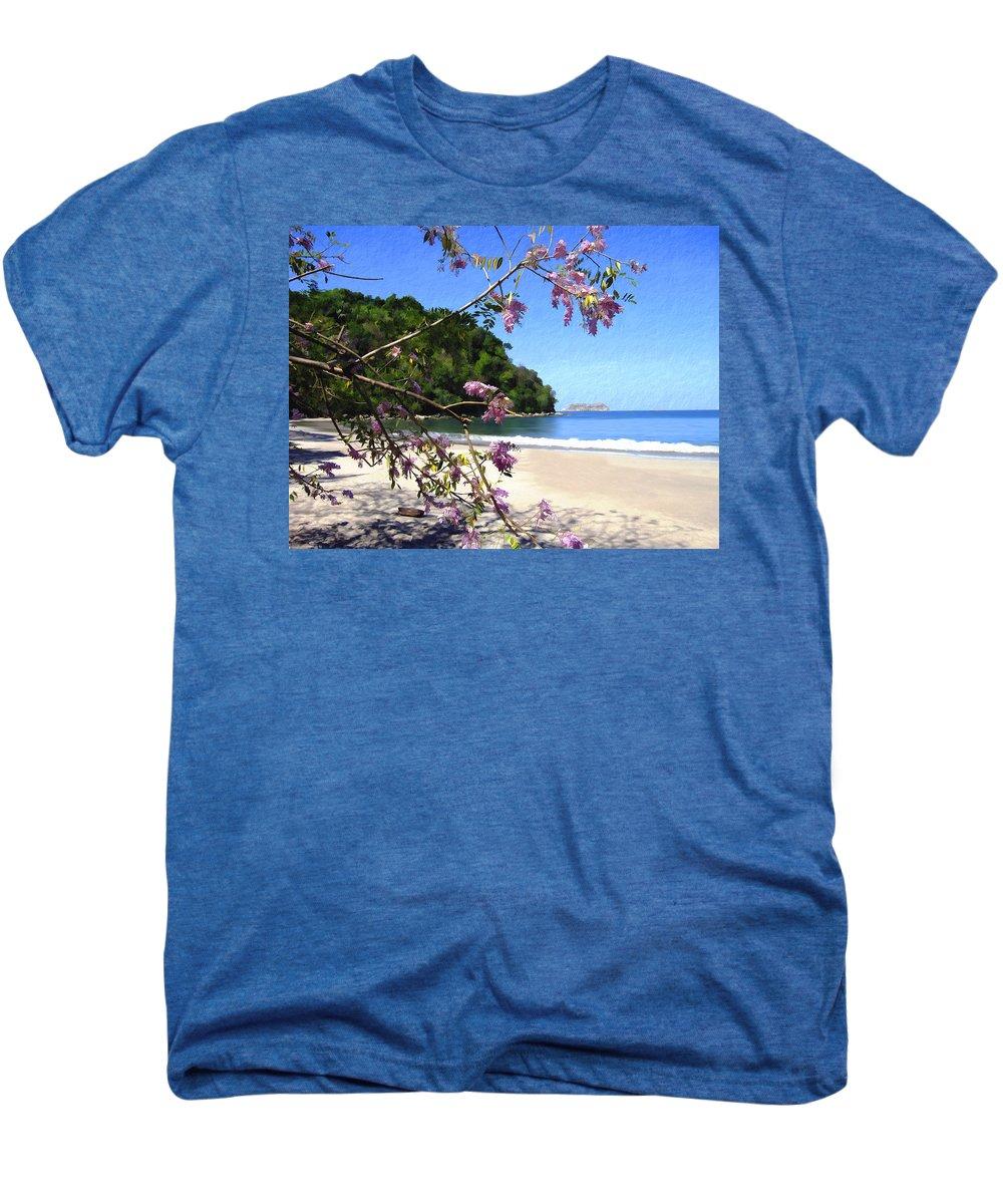 Beach Men's Premium T-Shirt featuring the photograph Playa Espadillia Sur Manuel Antonio National Park Costa Rica by Kurt Van Wagner