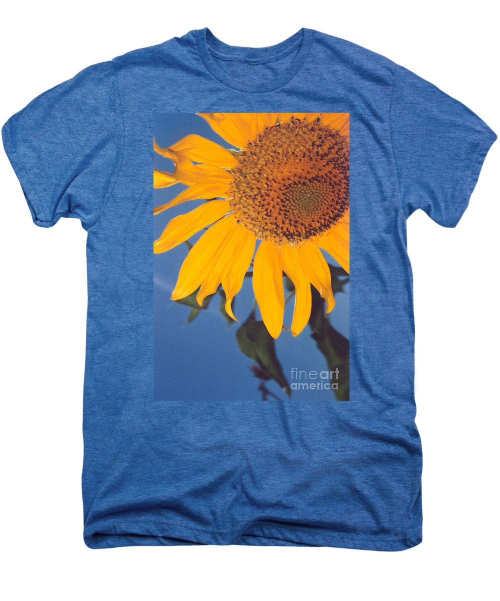 Flower Men's Premium T-Shirt featuring the photograph Sunflower In The Corner by Heather Kirk