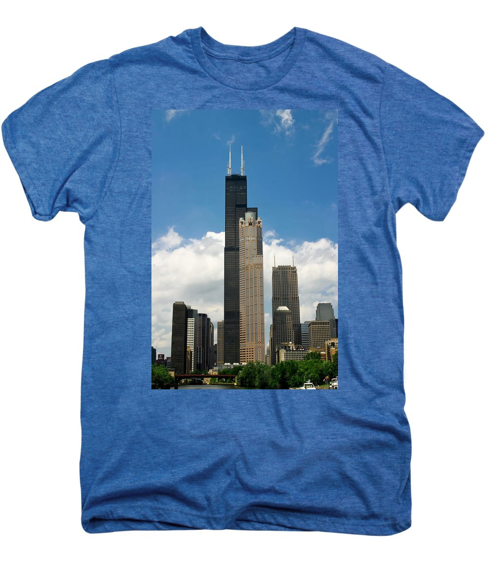 3scape Men's Premium T-Shirt featuring the photograph Willis Tower Aka Sears Tower by Adam Romanowicz