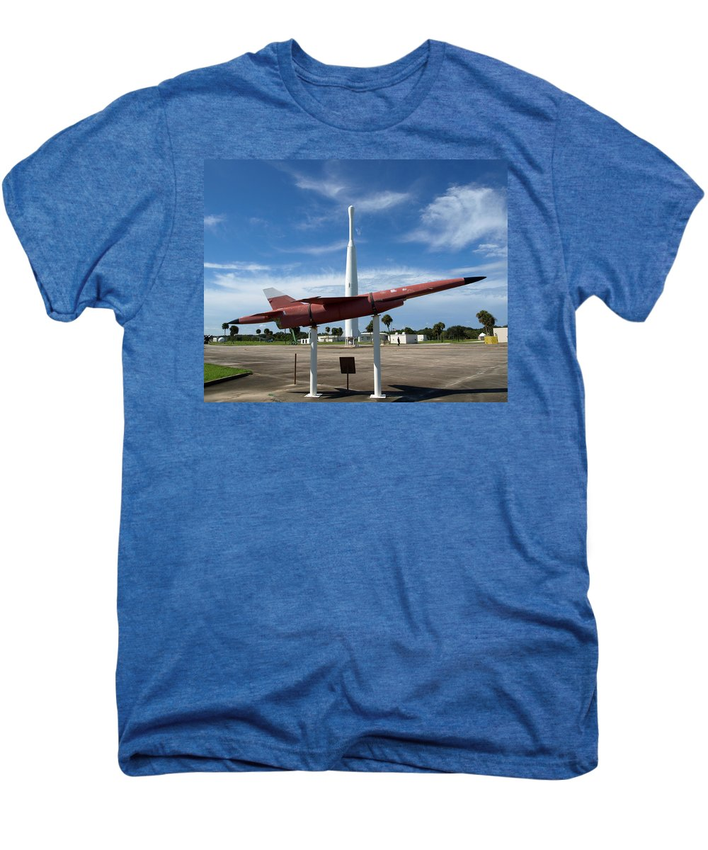 Thor; Able; Thor-able; Missle; U.s.; Airforce; Air Force; Air; Force; Cape; Canaveral; Nasa; Rocket; Men's Premium T-Shirt featuring the photograph Air Force Museum At Cape Canaveral by Allan Hughes