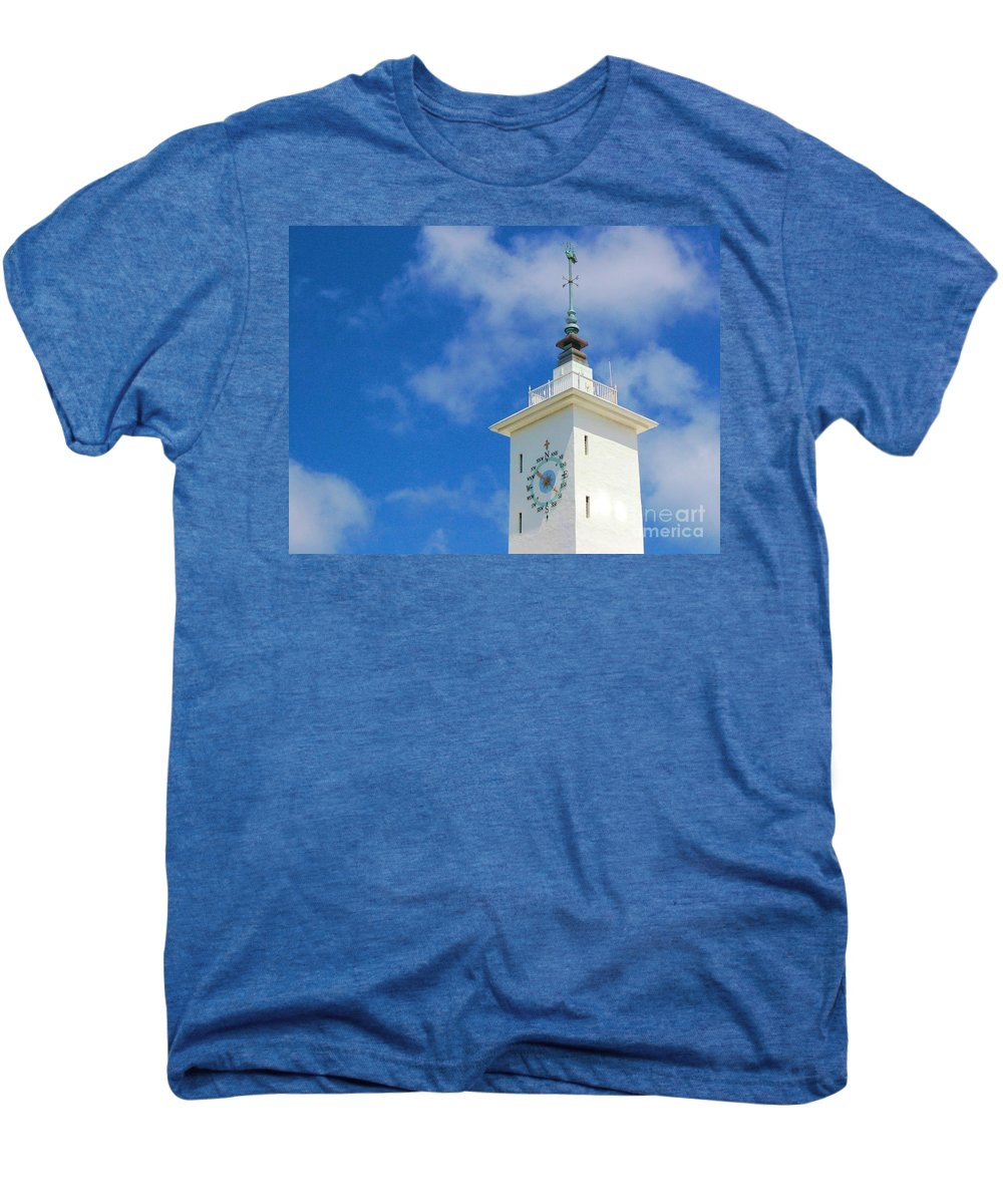 Clock Men's Premium T-Shirt featuring the photograph All Along The Watchtower by Debbi Granruth