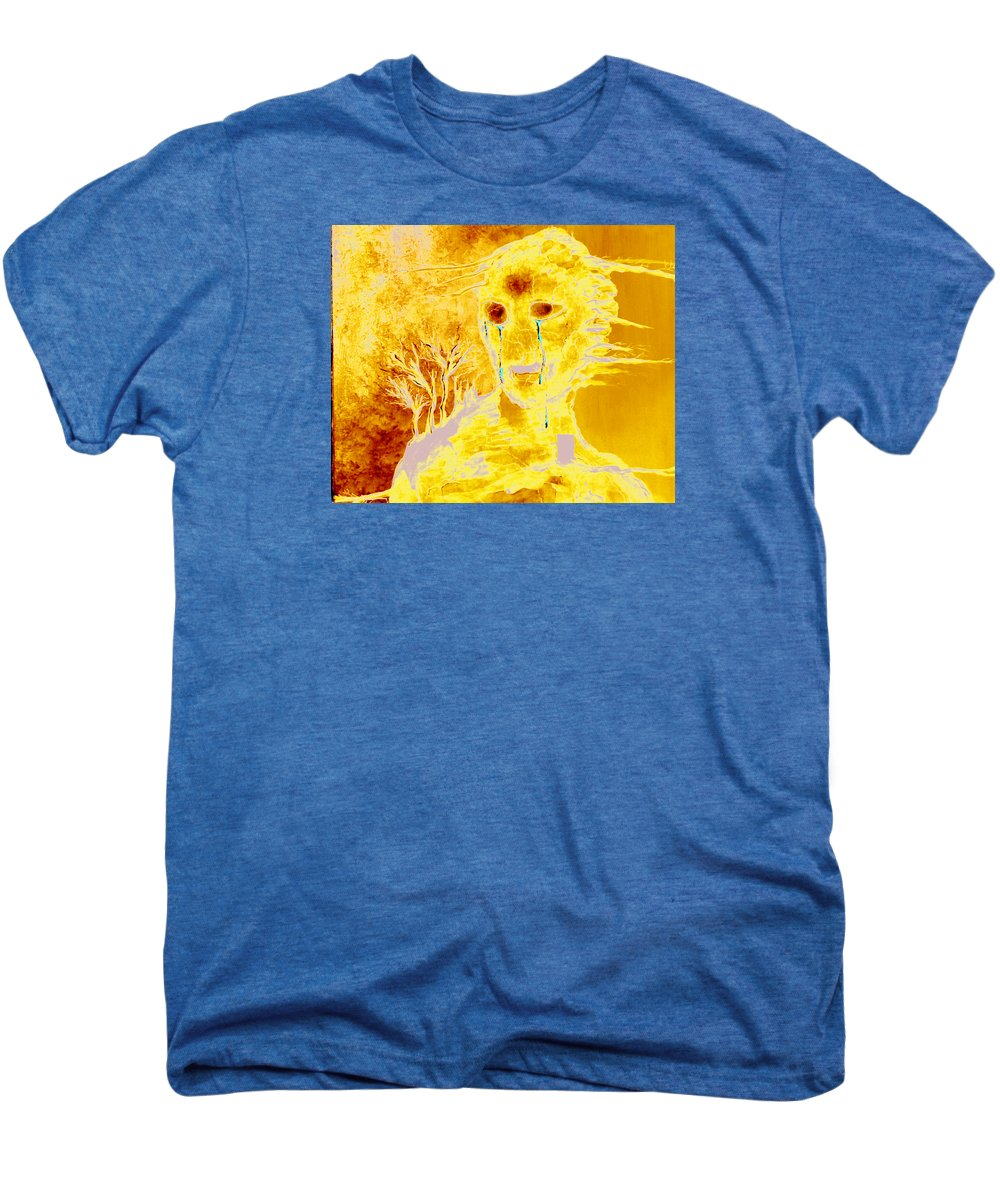Blue Men's Premium T-Shirt featuring the painting Untitled by Veronica Jackson