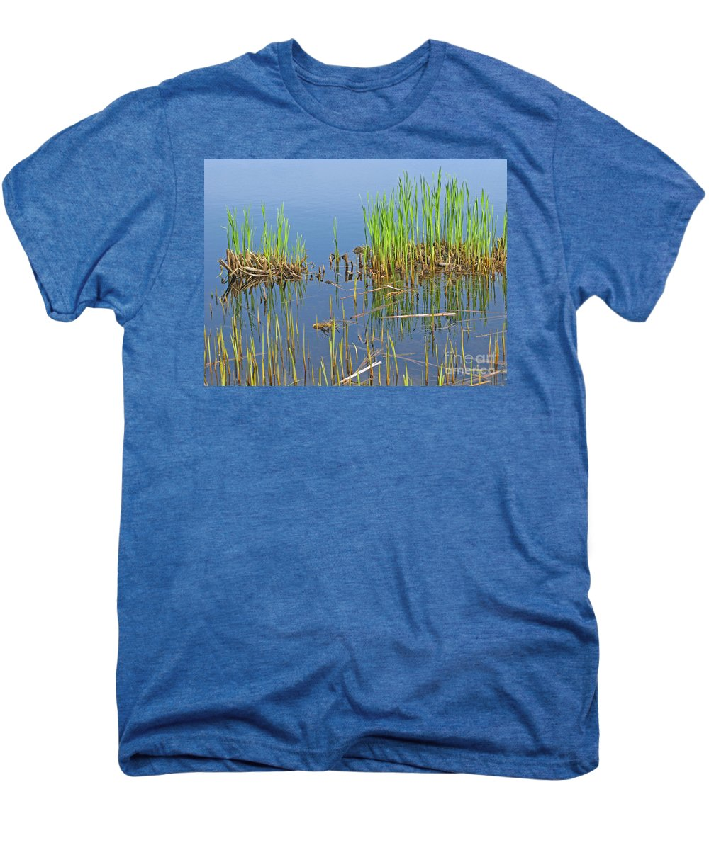 Spring Men's Premium T-Shirt featuring the photograph A Greening Marshland by Ann Horn
