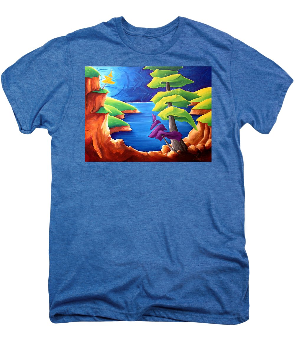 Landscape Men's Premium T-Shirt featuring the painting A Moment In Time by Richard Hoedl