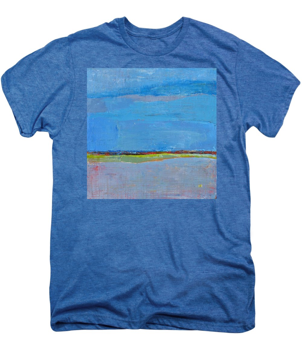 Men's Premium T-Shirt featuring the painting Abstract Landscape1 by Habib Ayat