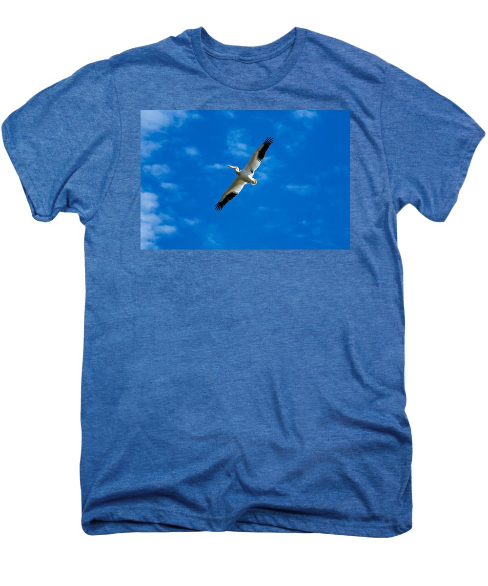 American Men's Premium T-Shirt featuring the photograph American White Pelican by Marilyn Hunt