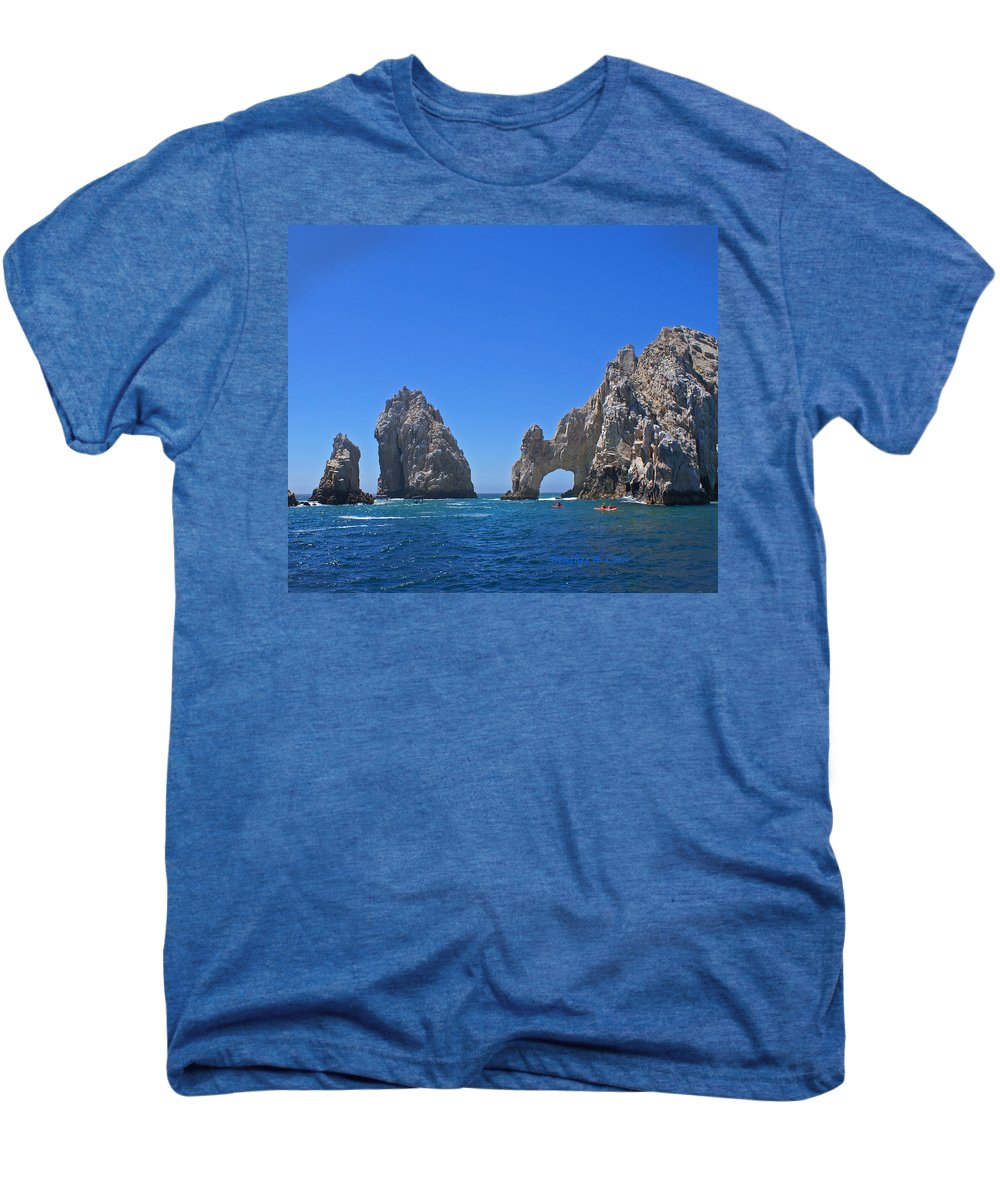 Mexico Men's Premium T-Shirt featuring the photograph Arch At Cabo San Lucas by Heather Coen