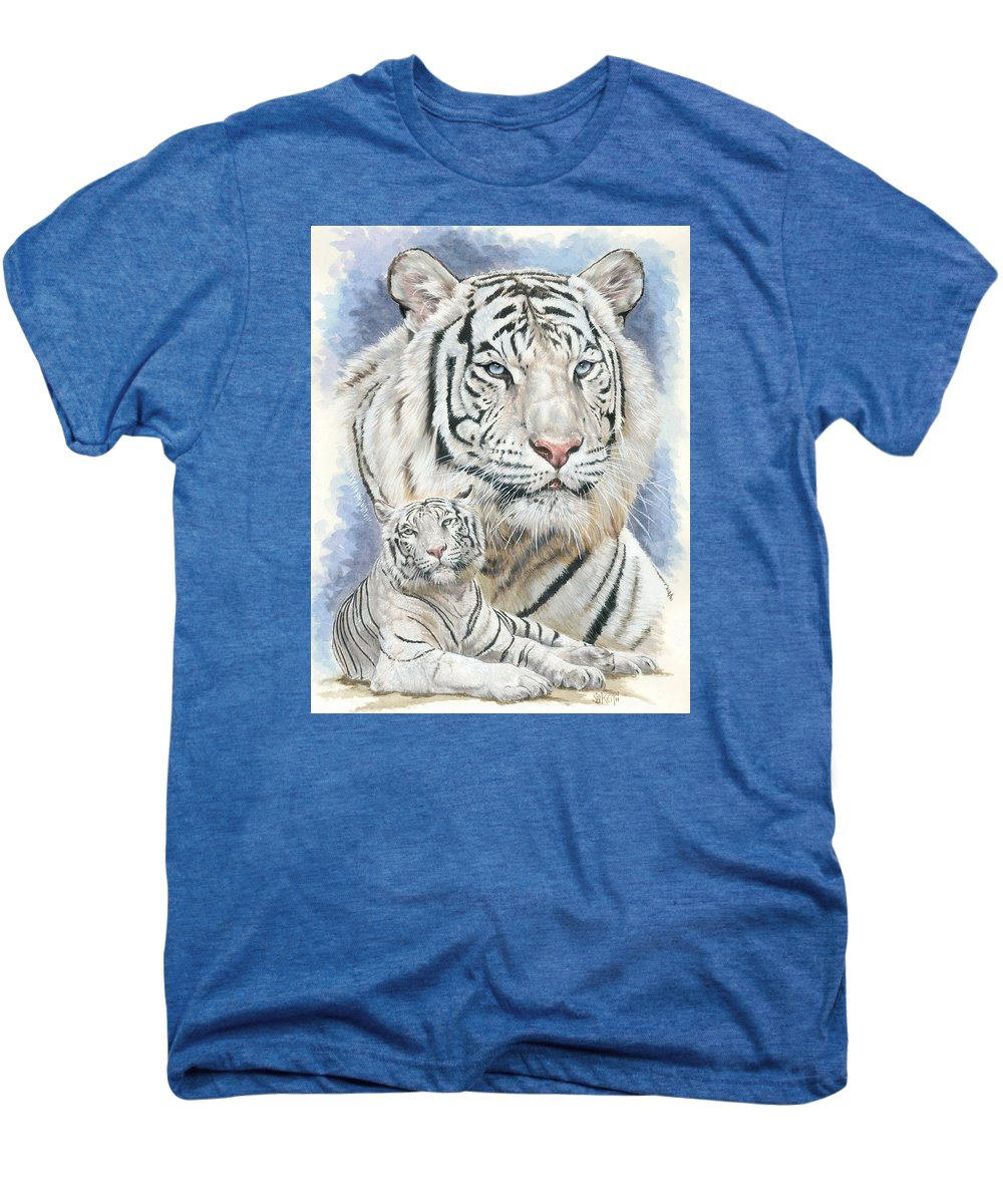 Big Cat Men's Premium T-Shirt featuring the mixed media Dignity by Barbara Keith