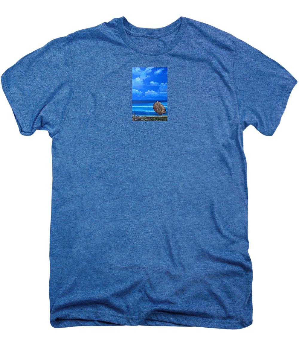 Barbados Men's Premium T-Shirt featuring the painting Bathsheba by Hunter Jay