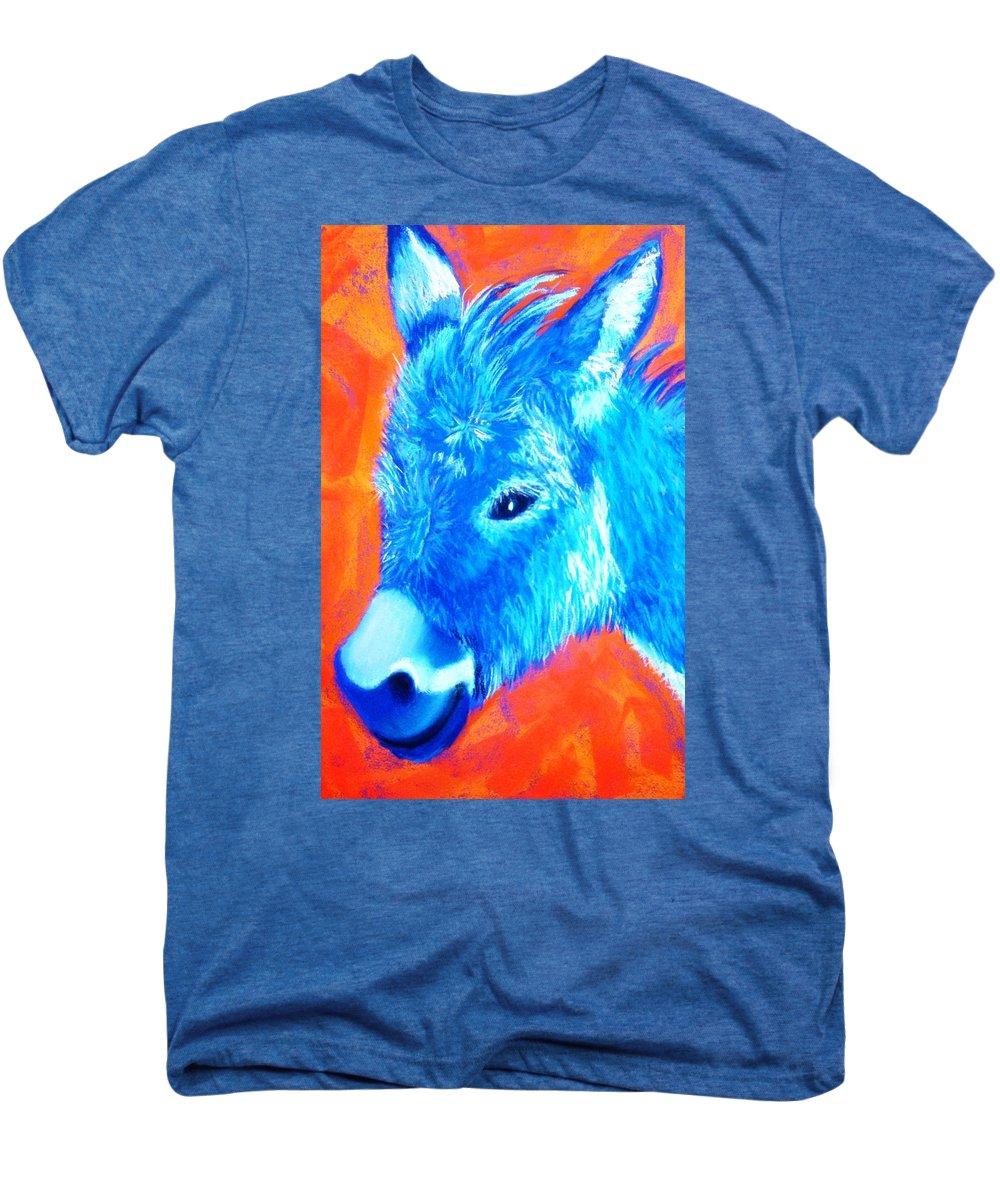 Burro Men's Premium T-Shirt featuring the painting Blue Burrito by Melinda Etzold