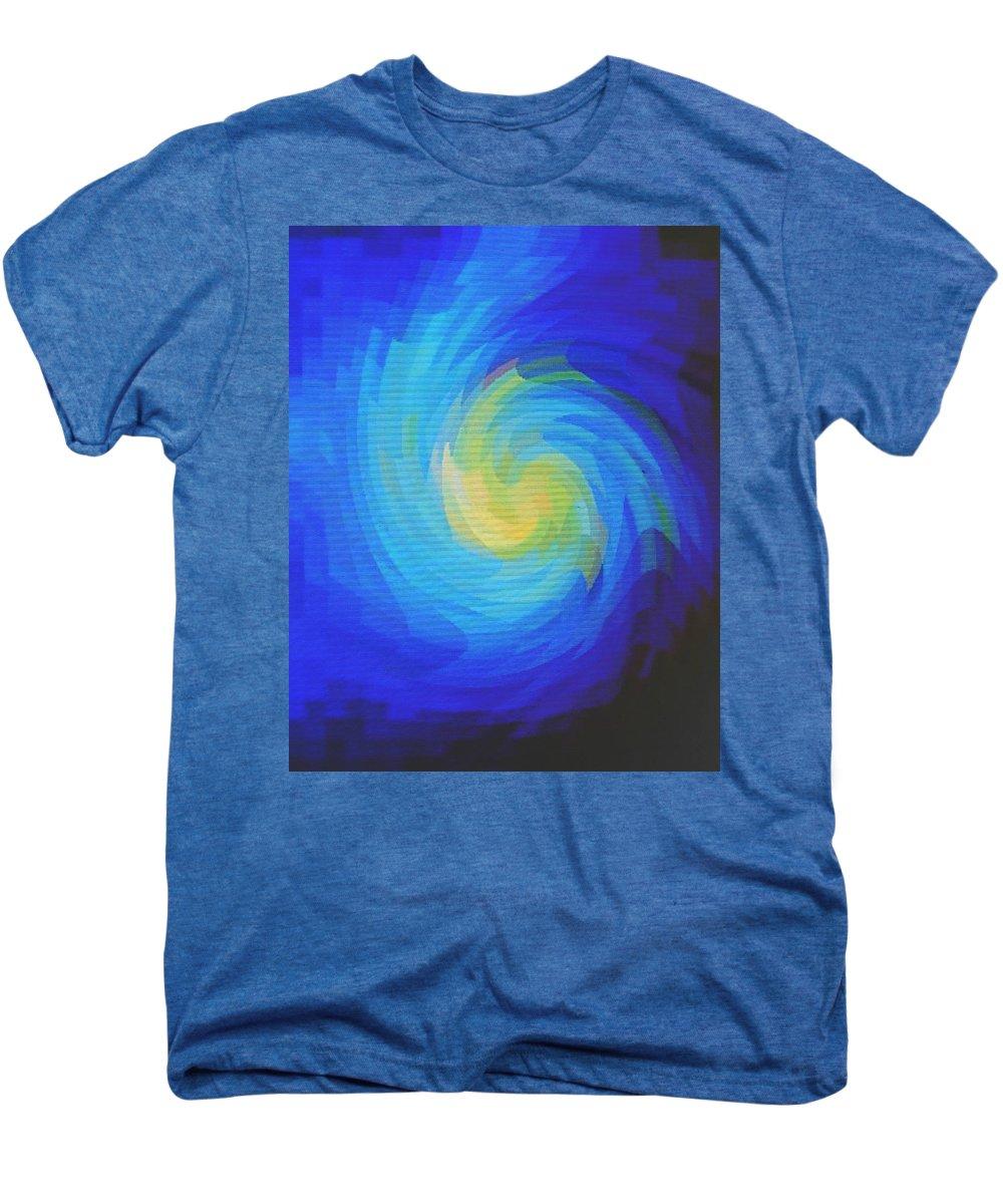 Blue Men's Premium T-Shirt featuring the digital art Blue Galaxy by Ian MacDonald