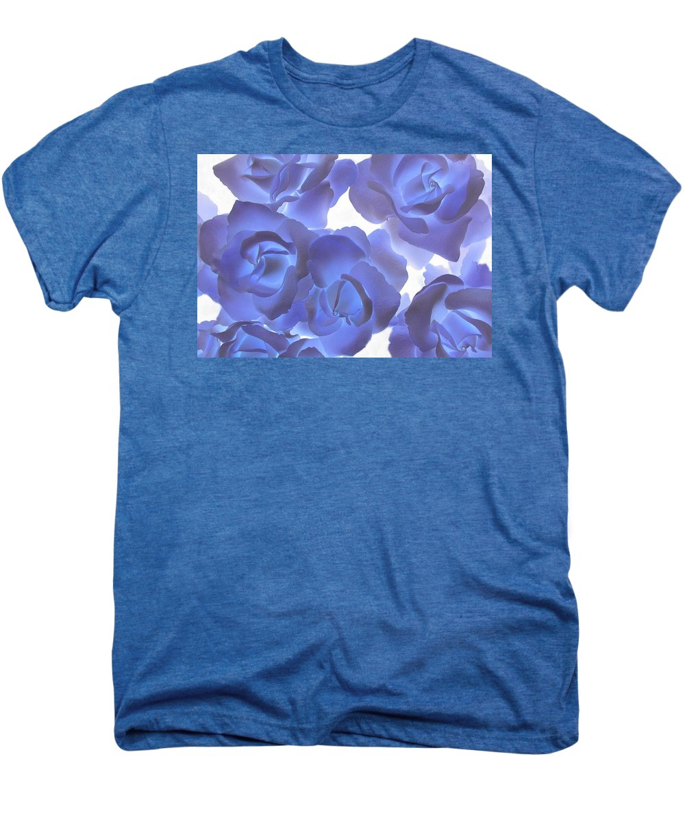 Blue Men's Premium T-Shirt featuring the photograph Blue Roses by Tom Reynen
