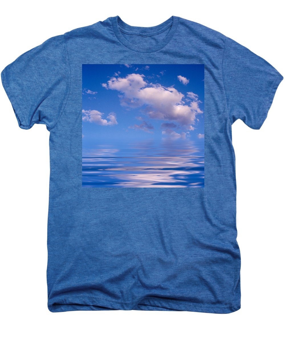 Original Art Men's Premium T-Shirt featuring the photograph Blue Sky Reflections by Jerry McElroy