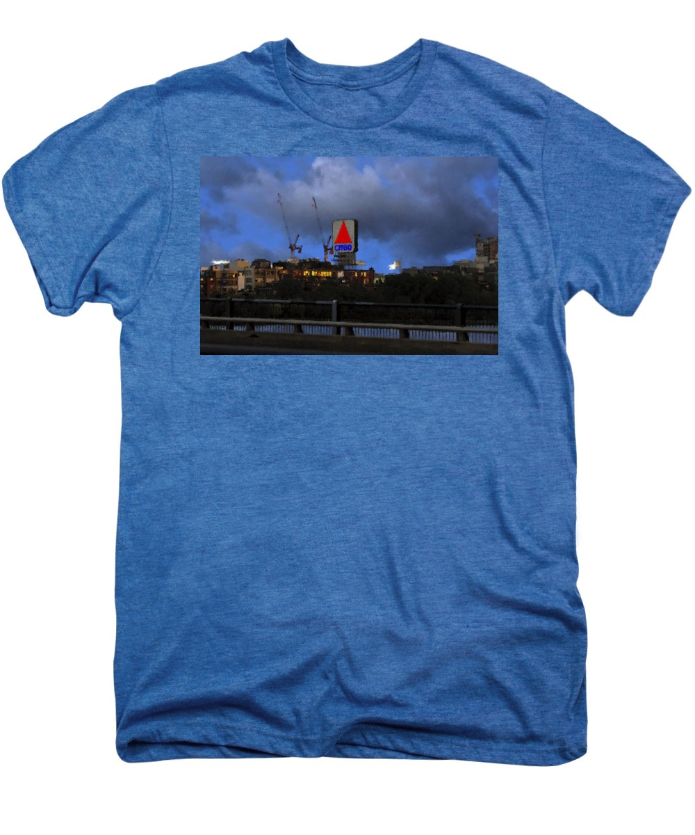 Citgo Sign Men's Premium T-Shirt featuring the digital art Citgo Sign by Edward Cardini