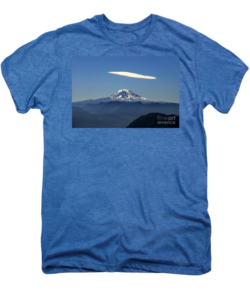 Mount Adams Men's Premium T-Shirt featuring the photograph Cloud Over Adams by David Lee Thompson