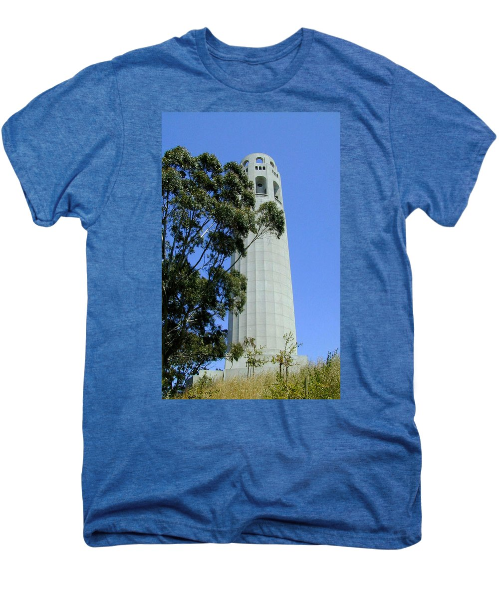 Coit Men's Premium T-Shirt featuring the photograph Coit Tower by Douglas Barnett