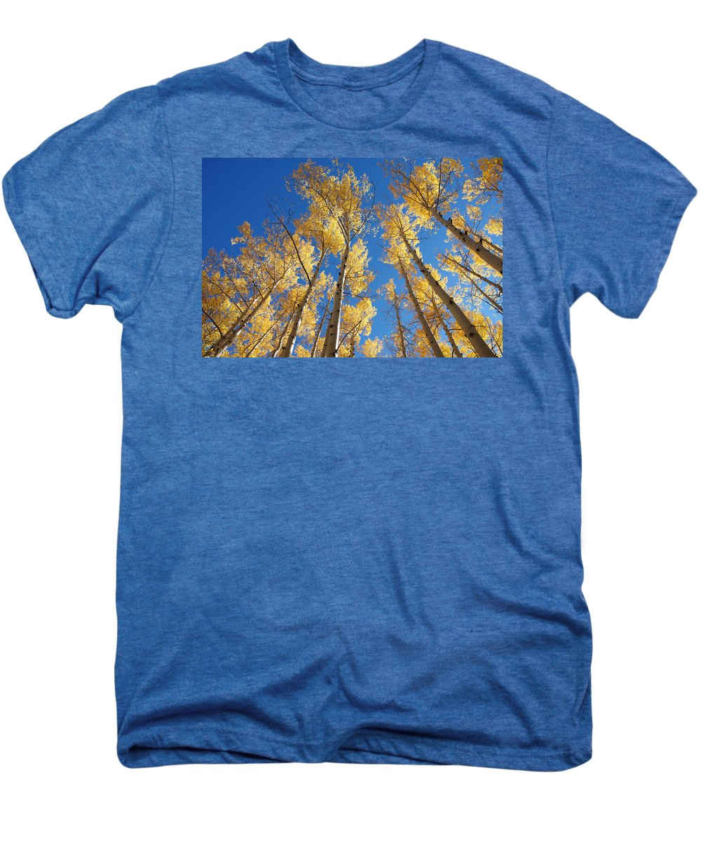 Aspen Men's Premium T-Shirt featuring the photograph Colorado Aspen by Jerry McElroy