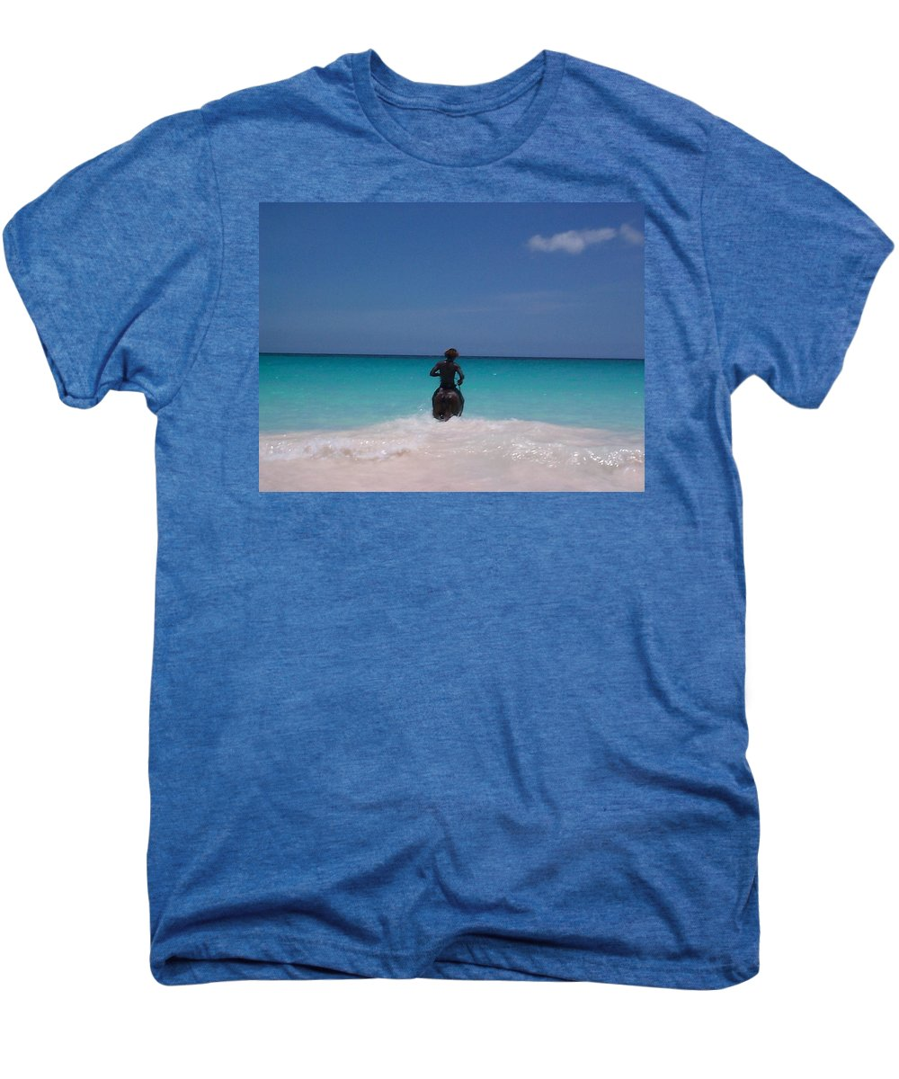 Charity Men's Premium T-Shirt featuring the photograph Cool Off Man by Mary-Lee Sanders