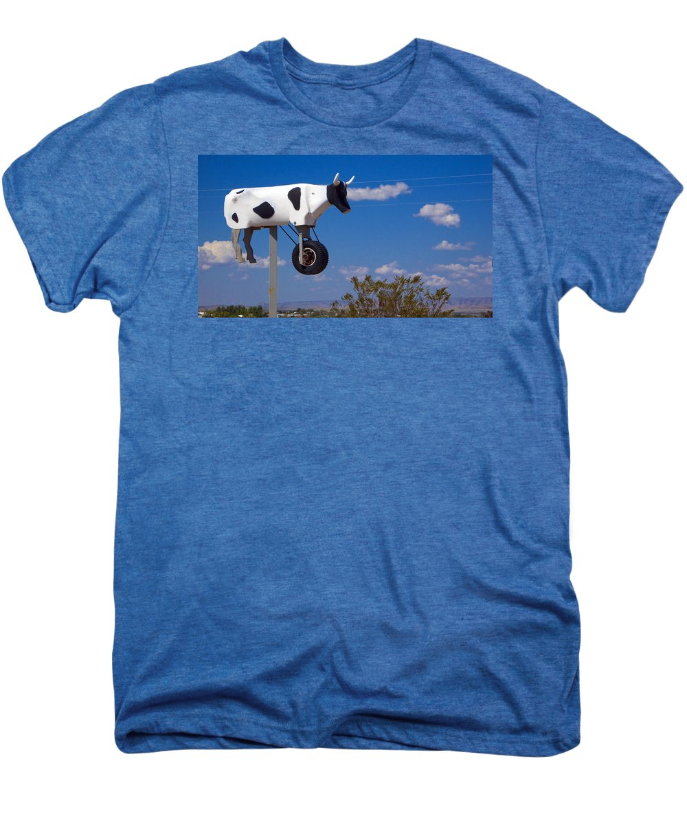 Cow Men's Premium T-Shirt featuring the photograph Cow Power by Skip Hunt