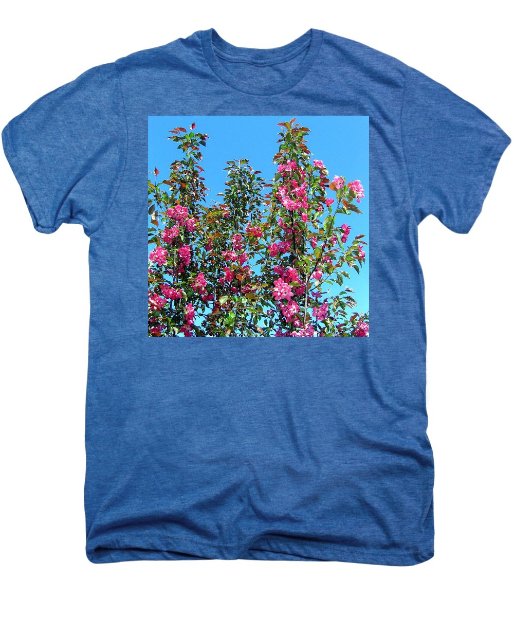 Crab Apple Blossoms Men's Premium T-Shirt featuring the photograph Crab Apple Blossoms by Will Borden