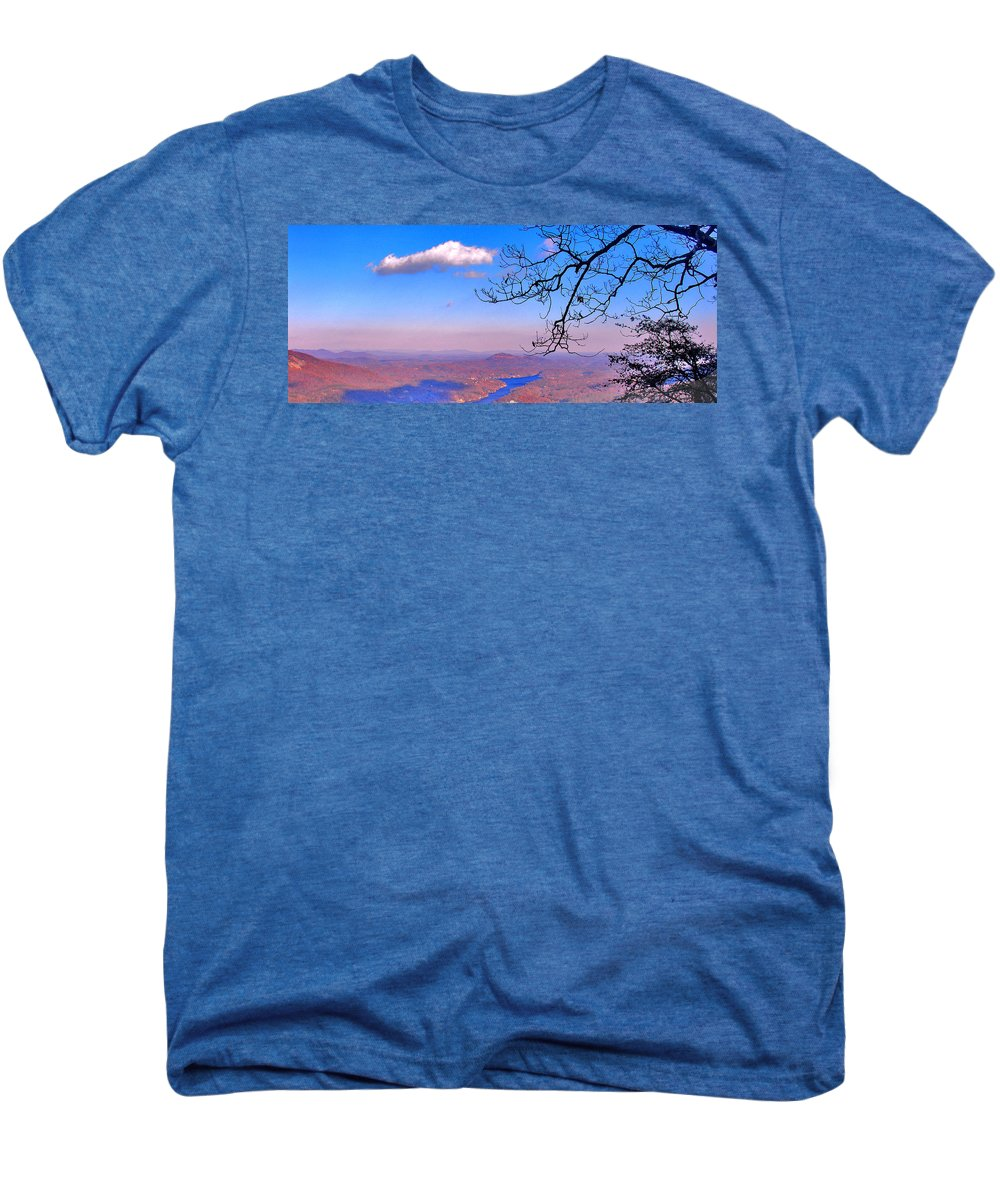 Landscape Men's Premium T-Shirt featuring the photograph Detail From Reaching For A Cloud by Steve Karol