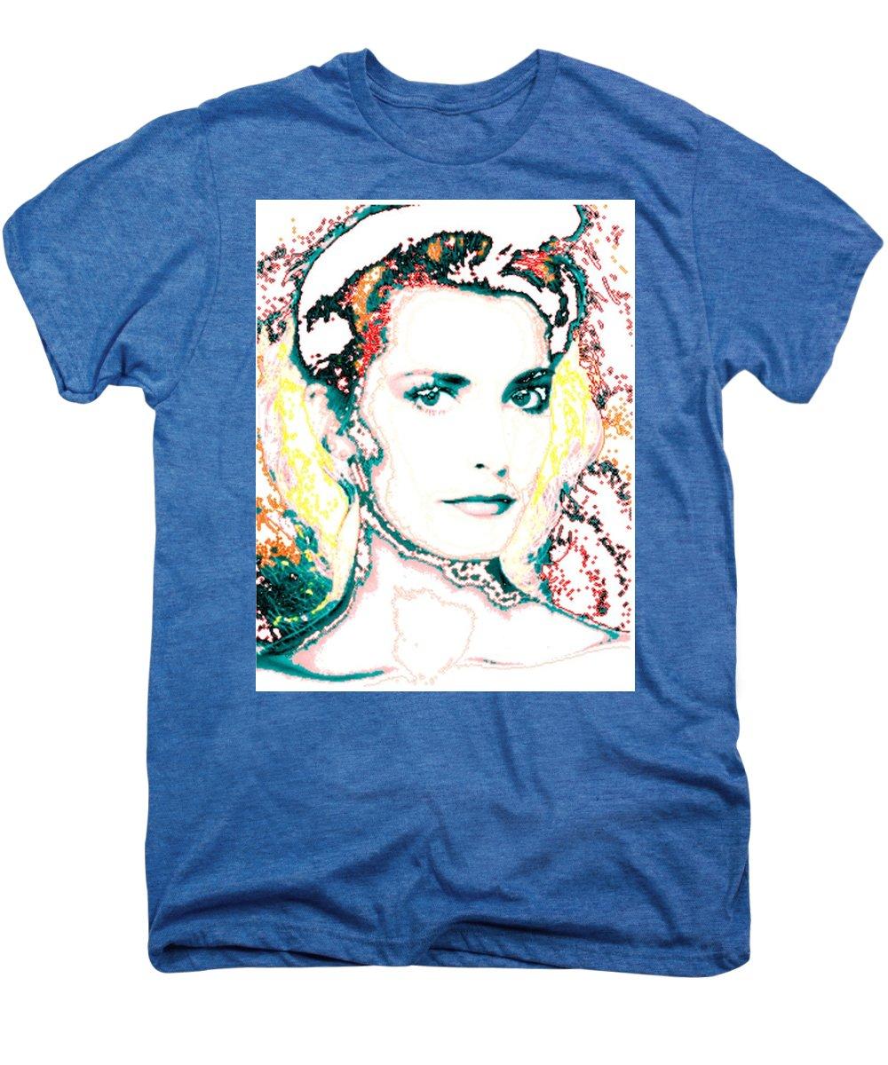 Digital Men's Premium T-Shirt featuring the digital art Digital Self Portrait by Kathleen Sepulveda