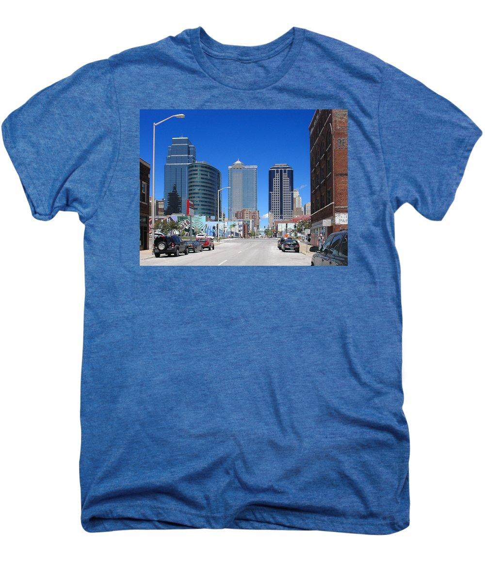 City Men's Premium T-Shirt featuring the photograph Downtown Kansas City by Steve Karol