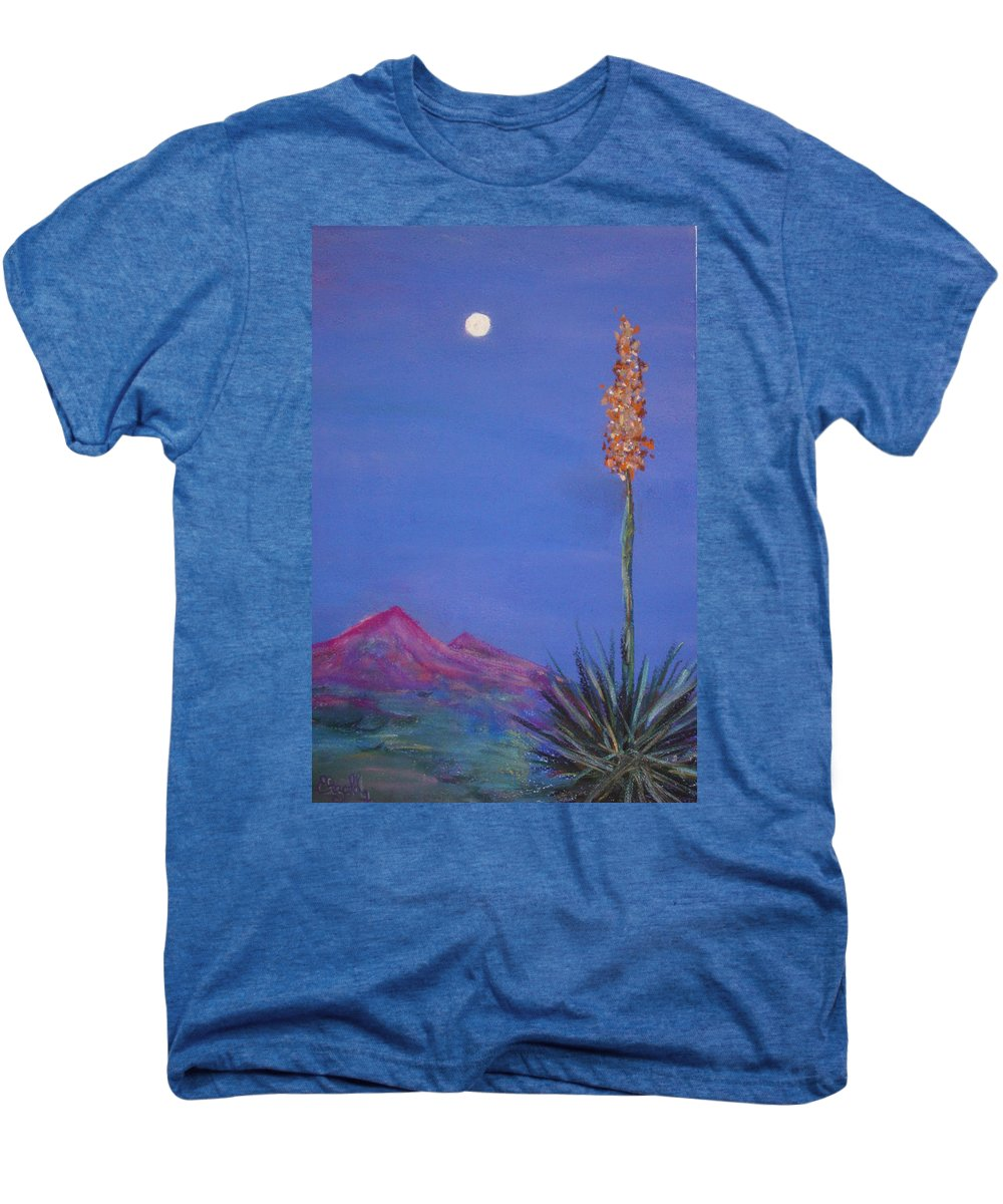 Evening Men's Premium T-Shirt featuring the painting Dusk by Melinda Etzold